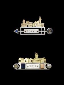 """Naujų vėjų ženklus """"Vėtrunges"""" iš rotariečių paaukoto aukso sukūrė juvelyras V.Bizauskas."""